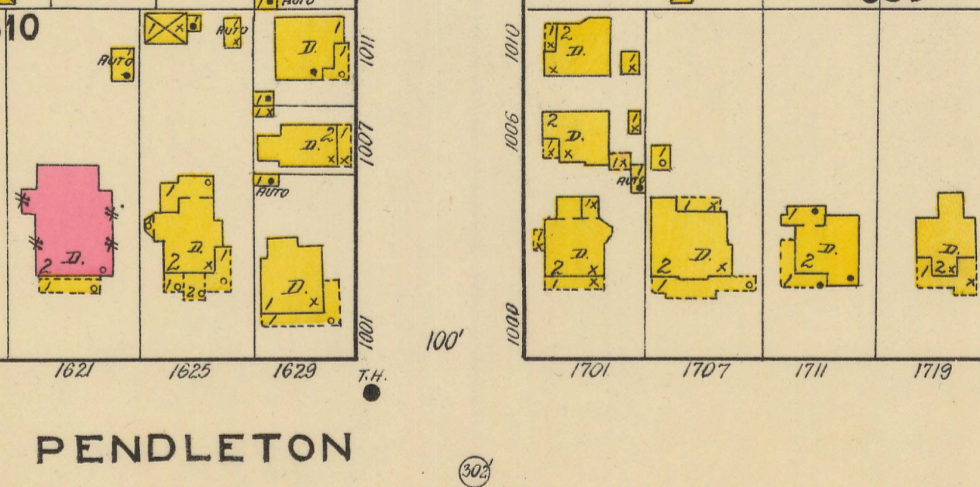 map of henderson and pendleton streets