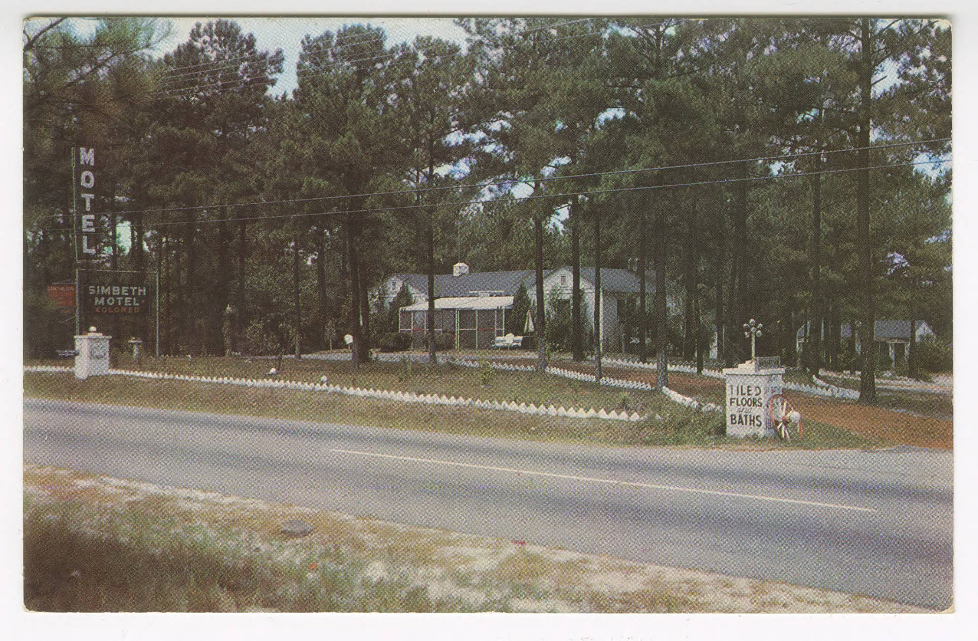 Motel Simbeth postcard