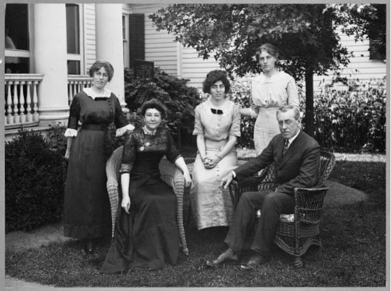 U.S. President Woodrow Wilson and family