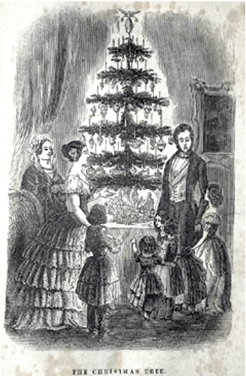 illustration of Victorian tree