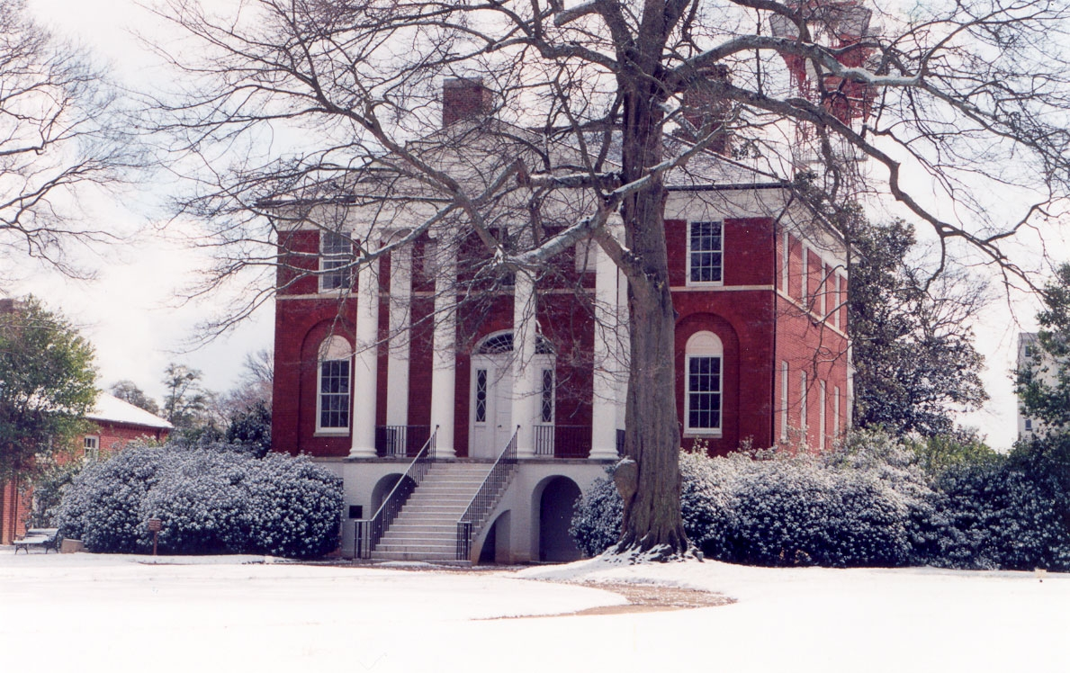 Robert Mills House in snow